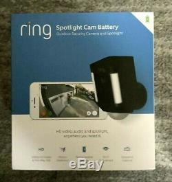 Ring Spotlight Cam HD Security Camera with 1080p HD Video Two-Way Audio Black