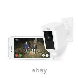 Ring Spotlight Cam Mount Hardwired Wired Smart Outdoor Security Camera