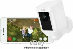 Ring Spotlight Cam Outdoor Battery-Powered Security Camera White- Brand New