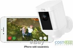 Ring Spotlight Cam Outdoor Battery Security Camera White Wire-free 2 pack