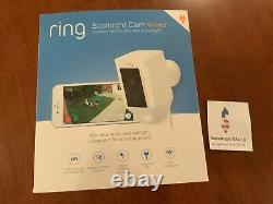 Ring Spotlight Cam WIRED Security Camera White -Alexa NEW