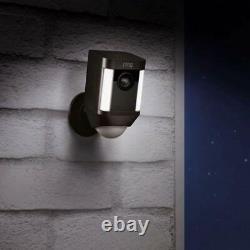 Ring Spotlight Cam Wired 1080 HD Built-in Spotlight Siren Alarm Alexa