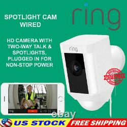 Ring Spotlight Cam Wired HD Security Camera with LED Spotlight, Alarm, Two-Way