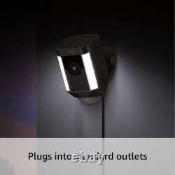 Ring Spotlight Cam Wired HD Security with Two-Way Talk & Siren & Alexa Black