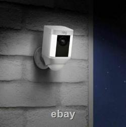 Ring Spotlight Cam Wired Outdoor Security Camera Two-Way Talk, Works with Alexa