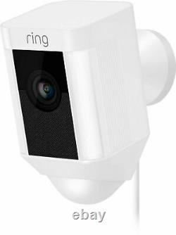 Ring Spotlight Cam Wired Plugged-in HD Security with Two-Way Talk & Siren