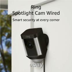 Ring Spotlight Cam Wired Plugged-in HD Security with Two-Way Talk & Siren &Alexa