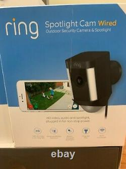Ring Spotlight Cam Wired Powered HD Security Camera with TwoWay Talk Siren Black