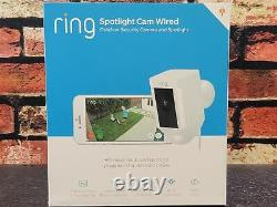 Ring Spotlight Cam Wired Powered HD Security Camera with TwoWay Talk Siren White