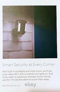 Ring Spotlight Cam, Wireless Battery Security Camera, Black BRAND NEW