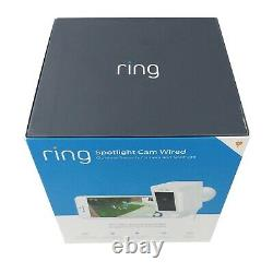 Ring Spotlight Wired Outdoor Cam Motion-Activated Smart Home LED Security Camera