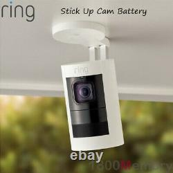Ring Stick Up Cam Battery Wireless HD 1080p Outdoor Security Video Camera White