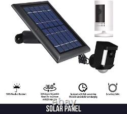 Ring Stick Up Cam Battery with Solar Panel Bundle Deal Camera (1 Pack, Black)