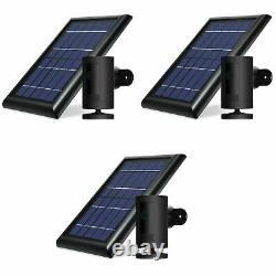 Ring Stick Up Cam Battery with Solar Panel Bundle Deal Camera (3 Pack, Black)