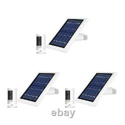 Ring Stick Up Cam Battery with Solar Panel Bundle Deal Camera (3 Pack, White)