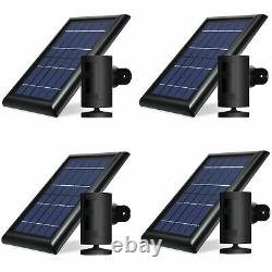 Ring Stick Up Cam Battery with Solar Panel Bundle Deal Camera (4 Pack, Black)