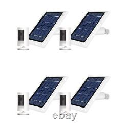 Ring Stick Up Cam Battery with Solar Panel Bundle Deal Camera (4 Pack, White)