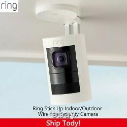Ring Stick Up Cam Elite Battery Indoor/Outdoor Security Camera White 2nd Gen