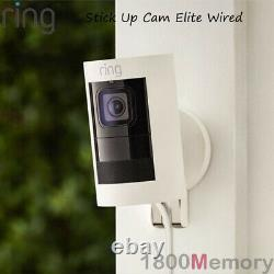 Ring Stick Up Cam Elite HD Wired 1080p Wi-Fi Outdoor Security Video Camera Black