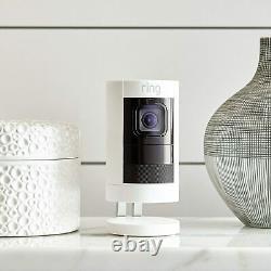 Ring Stick Up Cam Elite Indoor/Outdoor Battery Security Camera White 2nd Gen