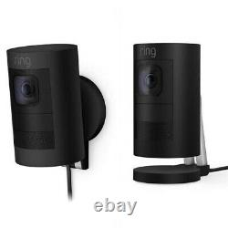 Ring Stick Up Cam Elite Smart Home 1080P HD Indoor Outdoor Wired Security Camera