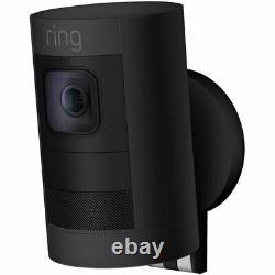Ring Stick Up Cam Elite Smart Home Wired Indoor / Outdoor Security Camera- Black