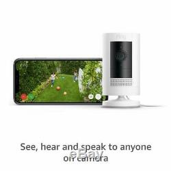 Ring Stick Up Cam Indoor/Outdoor 1080p WiFi Wired Security Camera White 3rd Gen