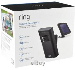 Ring Stick Up Cam Plus Solar Panel Included Brand New Factory Sealed