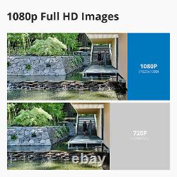 SANNCE 1080P HD Wireless AI akgrithm Alarm 8CH NVR Security IP Camera System 1TB