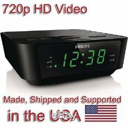 SecureGuard HD 720p Clock Radio Alarm Clock Nanny Cam SPY CAMERA with 16GB CARD