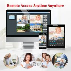 Security Camera Kit 1080P HDMI AHD DVR + IR-CUT 1500TVL CCTV Outdoor/Indoor Cam