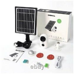 Security Camera Outdoor Wireless WiFi, Solar Powered Cam with 1080P Night Vision