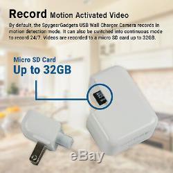 SpygearGadgets 1080P HD USB AC Wall Charger Hidden Spy Camera / Nanny Cam 32GB