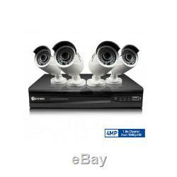 Swann 8Ch DIY Cam Security Network System/DVR/4x 4MP Super HD Bullet CCTV Camera