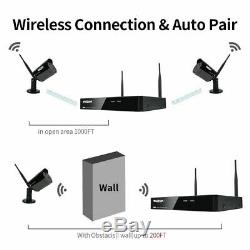 TMEZON 1080P Wireless Security WiFi Camera 8CH HD NVR Outdoor System 1TB Lot