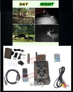 Trail Camera 3G GSM MMS Wireless 1080P HD Security Solar Alarm Cam