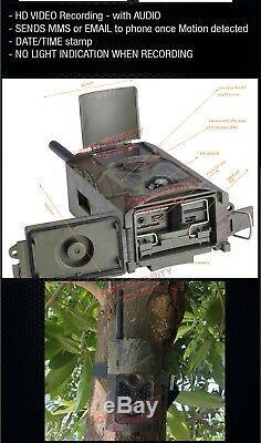 Trail Camera Wireless 3G GSM 32GB Security Alarm Cam Home Farm No Spy Hidden