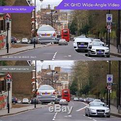 VAVA 2K Wi-Fi Dash Cam Car DVR Camera 2560x1440 30fps Video Security VA-VD005