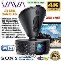 VAVA 4K Dash Cam Wi-Fi Car DVR Video Security Camera Sony Night Vision VA-VD004