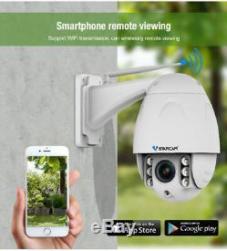 VStarcam C34S-X4 Wireless PTZ Dome IP Camera Outdoor 1080P HD 4X Zoom CCTV Cam