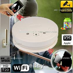 WIFI Security Camera Smoke Detector IP CCTV Nanny Room Cam Backup