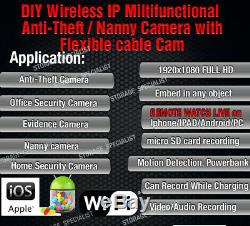 Wireless Car Security Camera IP Cam WIFI Anti Theft Vandal Device