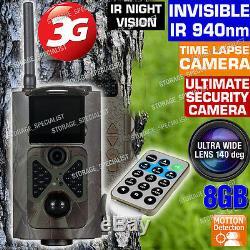 Wireless Security Camera 3G Trail GSM MMS GPRS 1080P HD Alarm Cam