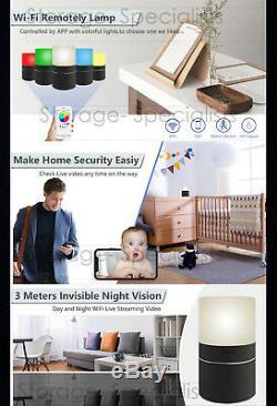 Wireless Security Camera Home Room Smart Cam LED Lamp WIFI IP no SPY Hidden
