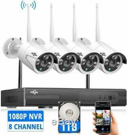 Wireless Security Camera System with 1TB Hard drive with Audio, Hiseeu