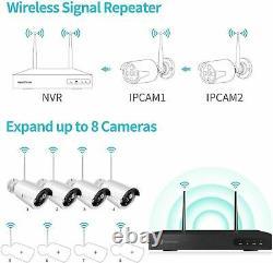 Wireless Security WIFI Camera System 1080P 8CH Outdoor 4PCS NVR CCTV HD IR Cam