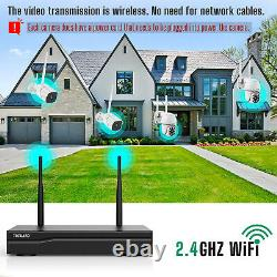 Wireless Security WiFi Camera System 3MP 8CH Outdoor NVR CCTV IR Cam NightVision