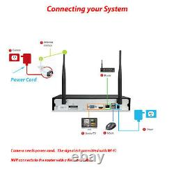 Wireless two way Audio Home Security 4CH HD 1080P CCTV Camera System DVR kit