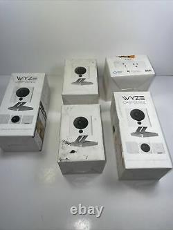 Wyze Cam Bundle v2 1080p HD Indoor Home Security Camera And Plug 2 Pack Lot Of 5